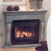 Barroca Soapstone Fireplace, Grey Soapstone