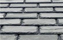 Mustang Brazilian Slate Roof Tiles, Black Slate