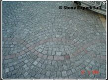 Porfido Grigio Verde Sarentino Granite Paving Ston, Green Granite