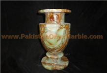 Multicolor Green Onyx Vases