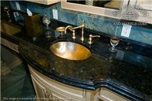 Blue Galaxy Vanity Top, Galaxy Blue Granite Vanity Top