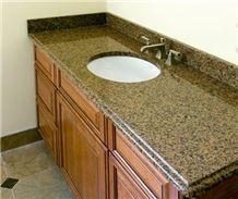 Diamond Yellow Granite Vanity Top,Bathroom Tops