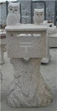 G682 Granite Stone Carving Mailbox/postbox, G682 Yellow Granite Mailbox