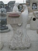 G682 Granite Stone Mailbox, G682 Yellow Granite Mailbox