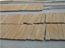 Light Yellow Wooden Vein Sandstone Slabs & Tiles,China Yellow Wooden Vein Sandstone