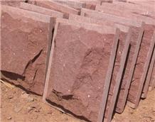 Maple Red Sandstone Mushroom Stone Wall Cladding