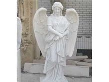 Stone Carving Angel Sculpture, White Marble Angel Sculpture