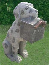 Stone Mailbox /postbox, G655 Grey Granite Mailbox