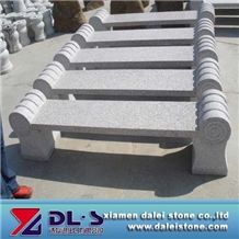 Long Stone Chair, Grey Granite Bench