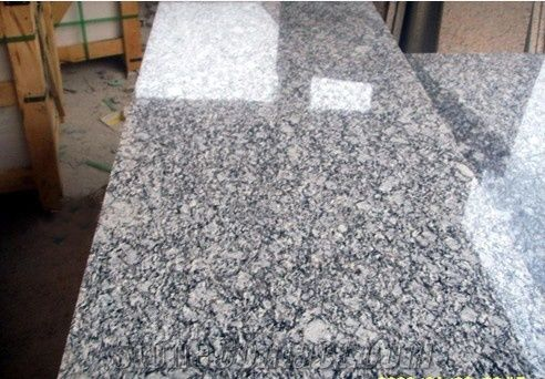 Sea Wave Flower White Granite Tiles From China