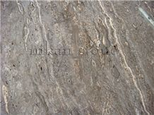 Snake Skin, Iran Grey Travertine Slabs & Tiles