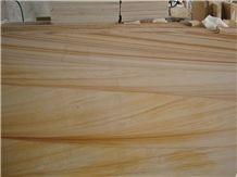 Teak Wood Sandstone Slabs, India Yellow Sandstone