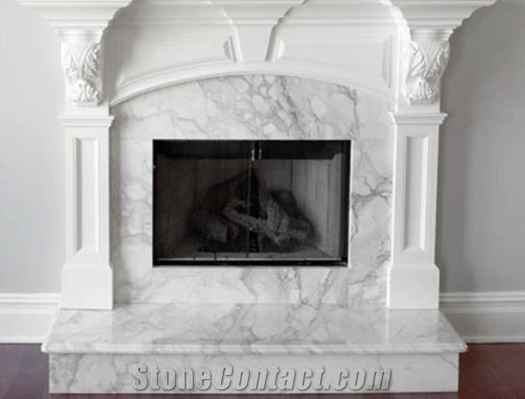 Arabescato Marble Fireplace White Marble From Lebanon