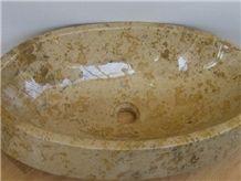 Shelly Limestone Sink, Beige Limestone