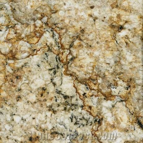 Golden Crystal Granite Tile Brazil Yellow Granite From