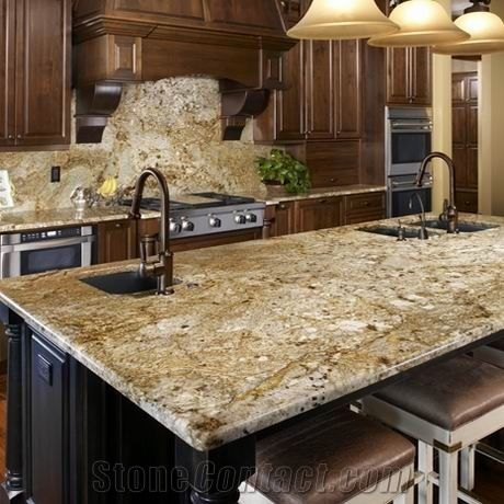 Granite Kitchen Island Countertop Yellow Granite