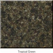 China Tropical Green Granite Tiles