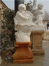 White Marble Carved Fountain MP052