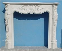 White Marble France Fireplace MBF 012