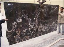 Nero Picasso Marble Slab, Turkey Black Marble