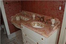 Rosa Aurora Mexico Marble Bath Top, Rosa Aurora Marble Pink Marble