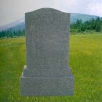 Japanese Style Granite Tombstone, Grey Granite Japanese, Korean