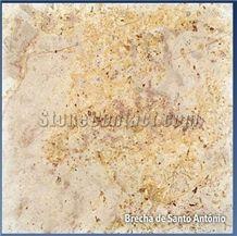 Brecha St Antonio, Portugal Beige Limestone Slabs & Tiles