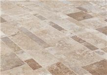 Tumbled Travertino Romano Noce, Italy Brown Travertine Slabs & Tiles
