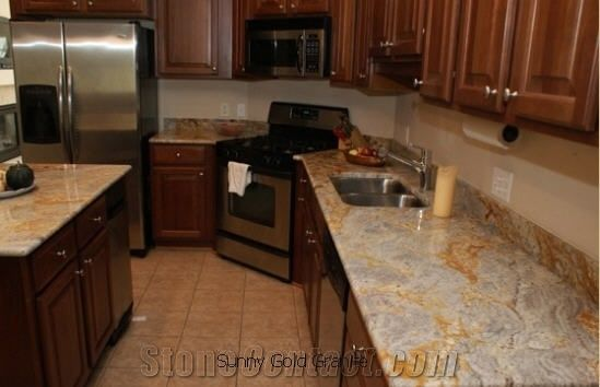 Sunny Gold Granite Kitchen Countertop Yellow Granite From