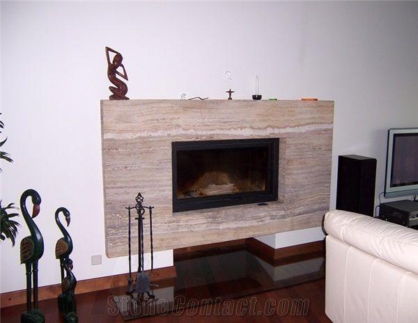 Travertine Fireplace Surround Beige