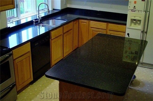Black Galaxy Kitchen Countertop And Island Top Galaxy Black