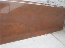 Indian Red Multi Granite Slabs, Multi Red Granite
