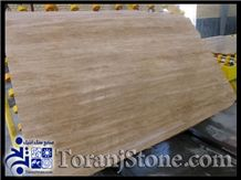 Beige Targh, Persian Cream Beige Travertine Slabs