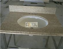 G682 Vanity Top, G682 Yellow Granite Vanity Top