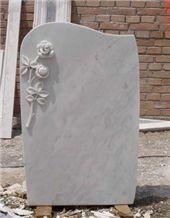 Carving Flowers HeadStone, Gravestone
