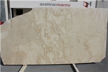 White Travertine Cross Cut, Alabastrino White Travertine Tiles & Slabs, Polished Flooring Tiles, Walling Tiles