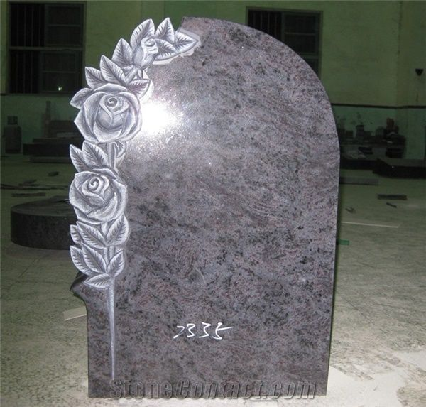 Bahama Blue Granite Tombstone Headstone From China