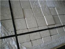 Limestone Cobble Stone Tumbled, Vraca Beige Limestone