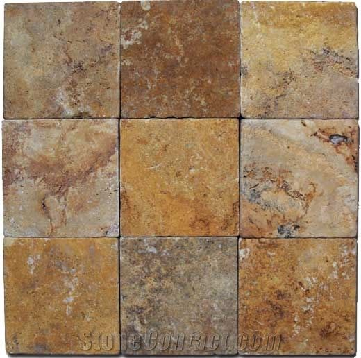 Paver Apricot Travertine Yellow From United States