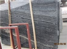 China Honed & Polished Natural Marble Stone Antique Wooden Grey Slabs & Tiles, Black Wood Vein Marble Slabs for Floor Covering & Skirting,Walling ,Ancient Wood Grain Marble,Black Forest
