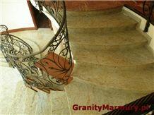 Granite Stairs, Royal Gold Yellow Granite