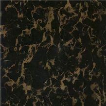 Mable Tile - Black Gold, China Portoro Black Marble Tiles