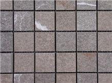 Pietra Piasentina Flamed Glued on Net, Limestone Slabs