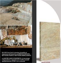 Breccia Oniciata Marble Block, Italy Beige Marble