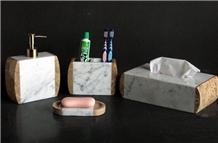 Marble Dispenser Soap Dish Bathroom Accessories