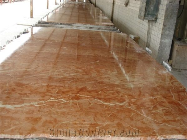 Rojo Alicante Marble Polished Floor Tile Spain Red Marble
