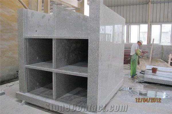 6 Crypts Mausoleum Padang Grey Granite Mausoleum