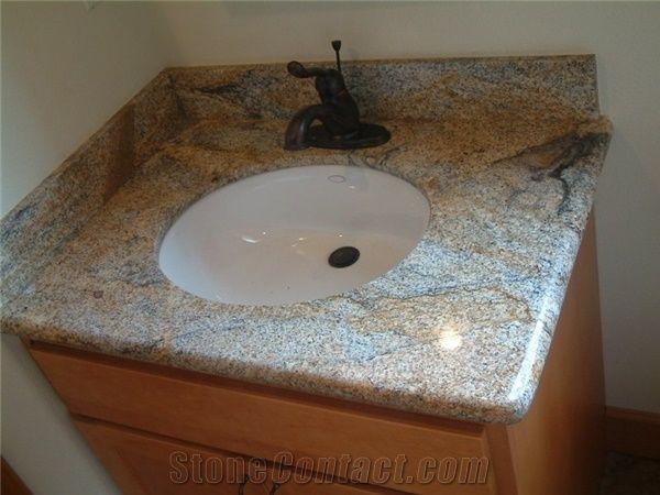 Desert Gold Brazil Yellow Granite Vanity Top From China