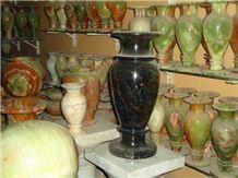 Flower Vase, Green Onyx Home Decor
