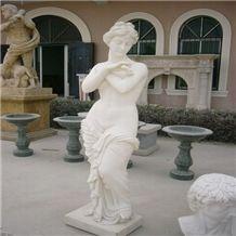 Dinglei European Character Stone Sculpture, White Marble Sculpture